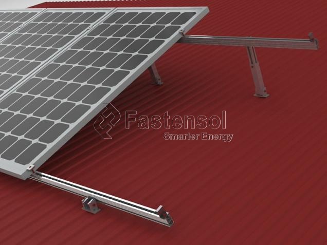 Adjustable Flat Metal Roof Solar Mounting System